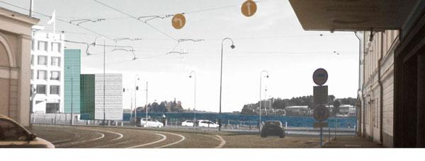 Kohti merta Mariankadulta. Helsinki / Kauppatori Eteläsatama Katajanokanlaituri