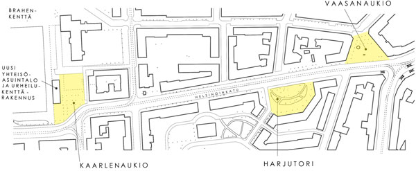 Helsinginkadun 3 aukiota kartta