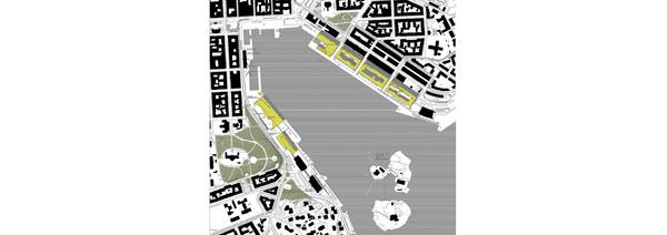 Uudisrakentaminen kartalla. Helsinki / Kauppatori Eteläsatama Katajanokanlaituri
