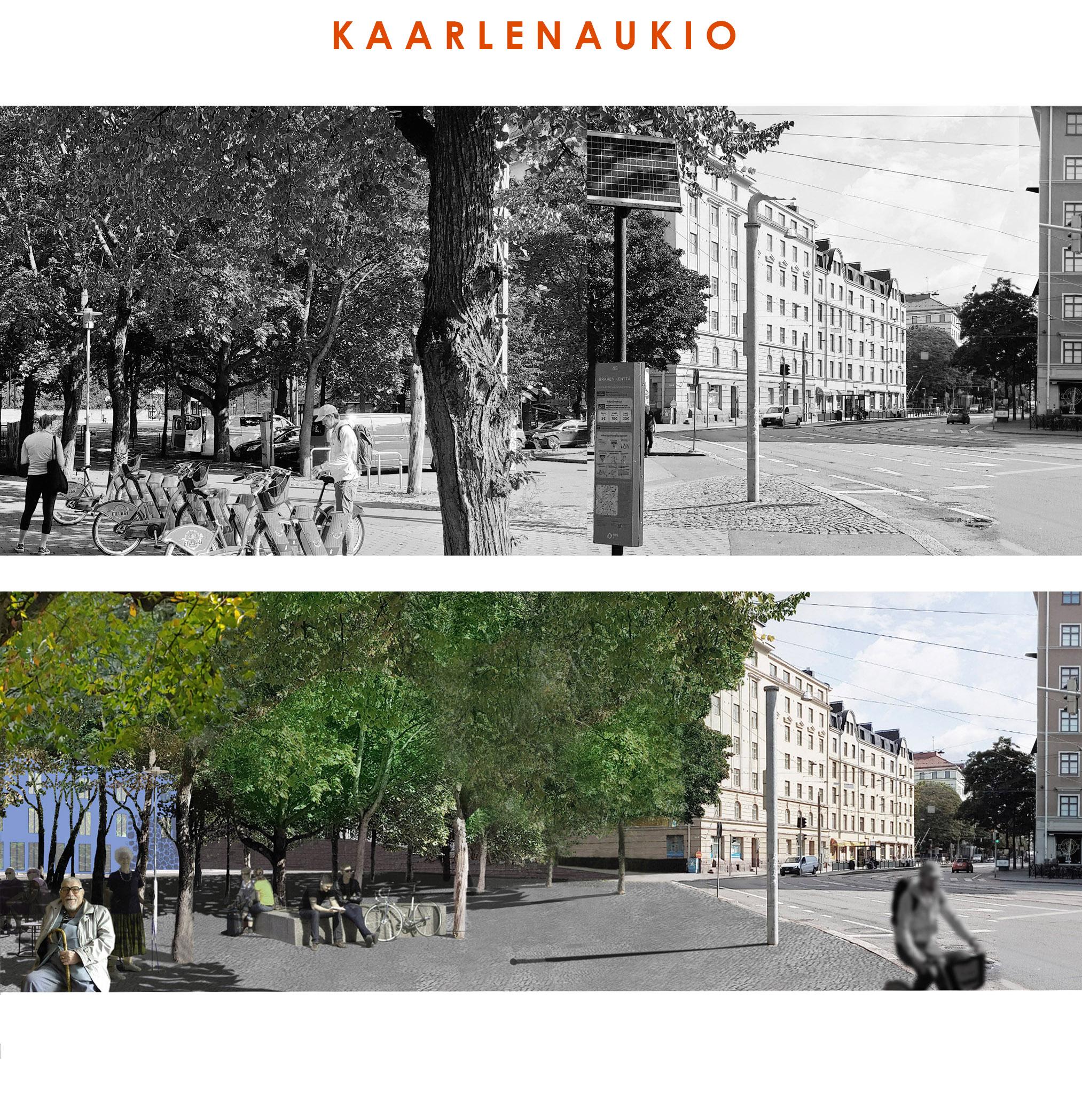 Helsingin Kaarlenaukio pitäisi muuttaa oleskelualueeksi