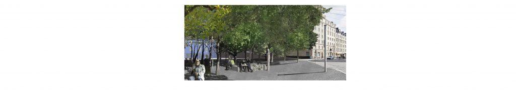 Kaarlenpuistosta kohti itää Helsinginkadulle